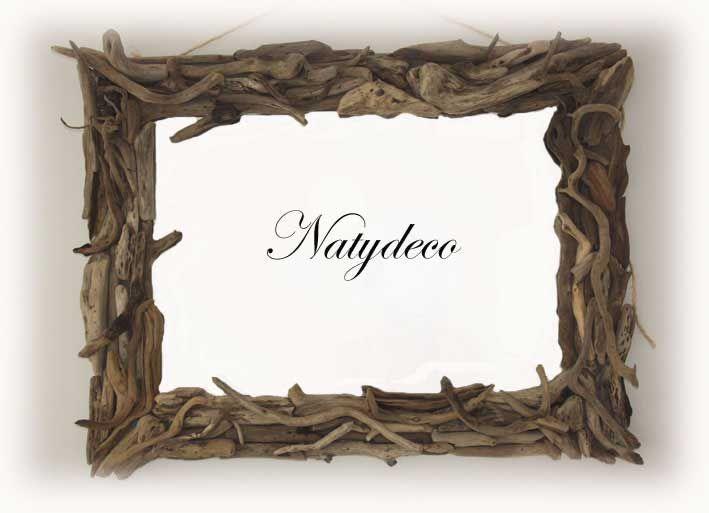 Miroir Bois Flotte Fabrication : miroir en bois flott? NATYDECO fabrication artisanale http://www