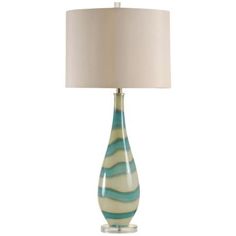 amelie turquoise and sand glass contemporary table lamp. Black Bedroom Furniture Sets. Home Design Ideas