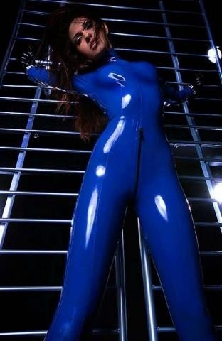 Blue Latex Suit 114