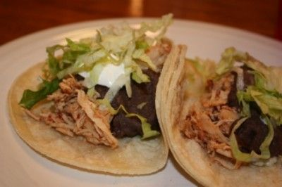 Slow Cooked Chili Chicken Tacos - Lynn's Kitchen Adventures