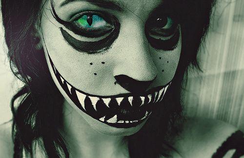 Scary Cat Makeup Halloween Pinterest - Scary Cat Makeup