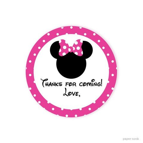 Printable Gift Tag | Mickey&Minnie Party Ideas | Pinterest