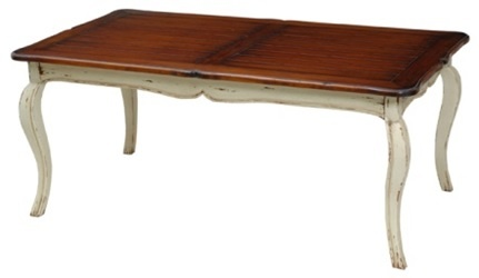 "Antique French Farmhouse Dining Table - Design #1 - Handcrafted from mahogany. - Item # BR-99632 - 72""L x 42""W x 30""H - 50+ color & art options."