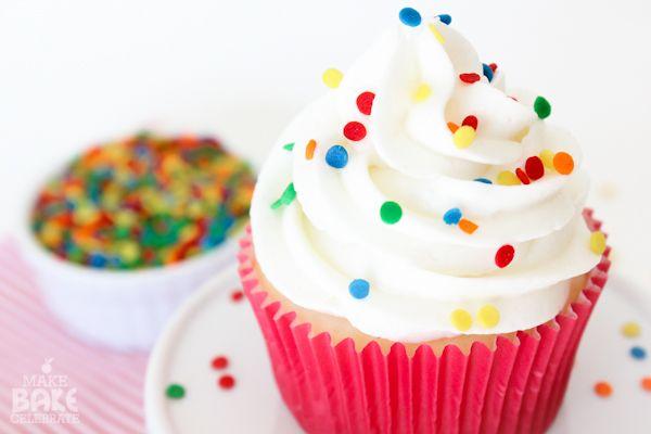 Basic White Cupcakes   Cupcakes   Pinterest