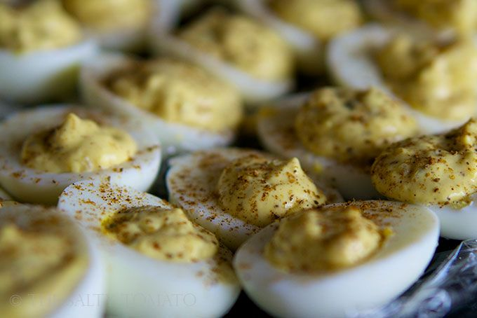 The Salty Tomato | Old Bay Deviled Eggs – Ovo Vegetarian Moment ...