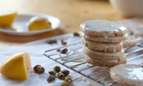 Lemon-Glazed Pistachio Shortbread Cookies from The Good Neighbor ...