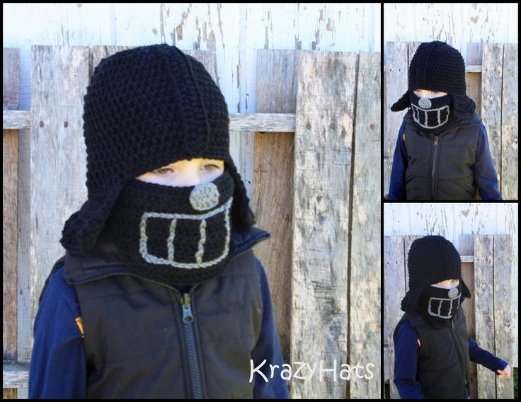 Crochet Darth Vader hat. LOVE!! Pinterest