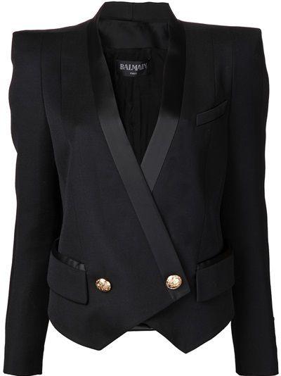 BALMAIN Double Breasted Tuxedo Blazer