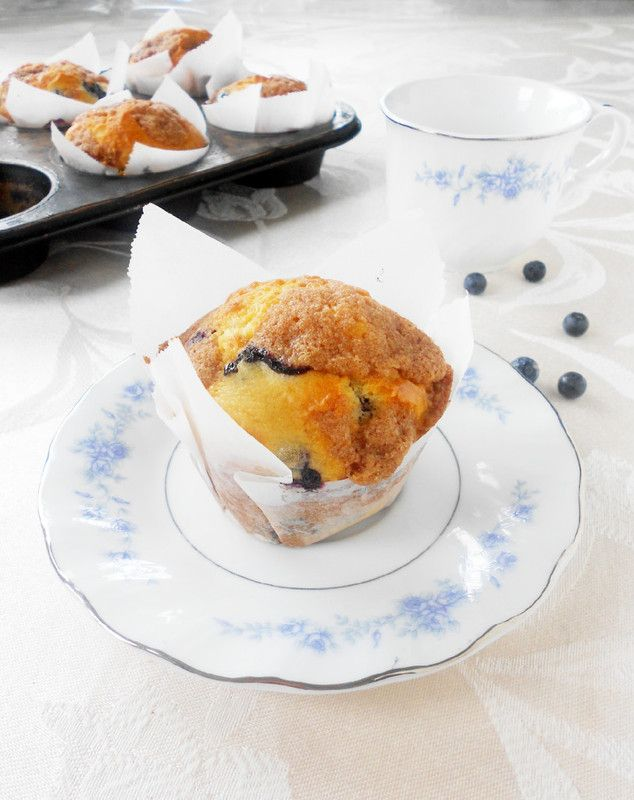Blueberry Muffins with Cinnamon Streusel | Cupcakes | Pinterest