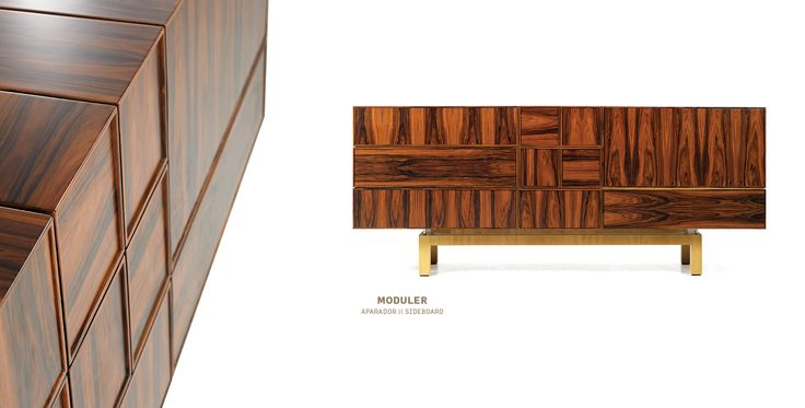 "Beautiful. Contemporary Wood Sideboard ""Moduler"" by Malabar"