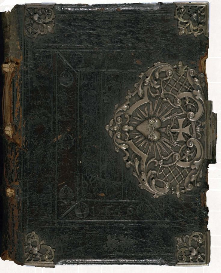 Very old book with book clasp
