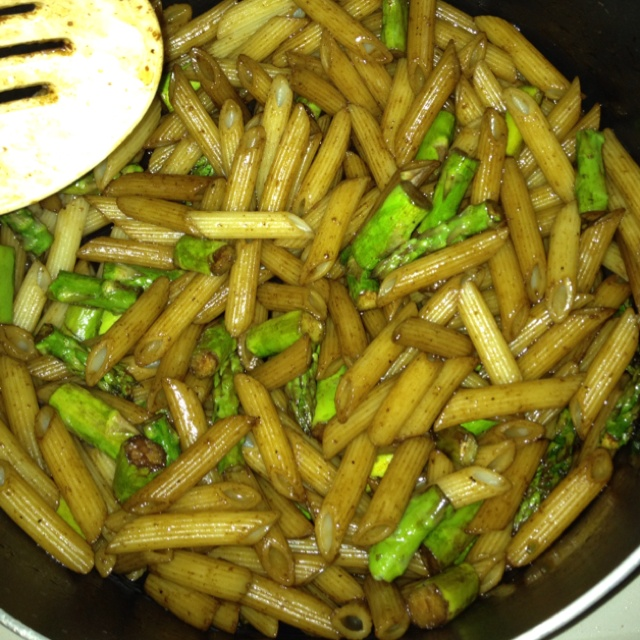 Recipe: Penne with Roasted Asparagus and Balsamic Butter ...