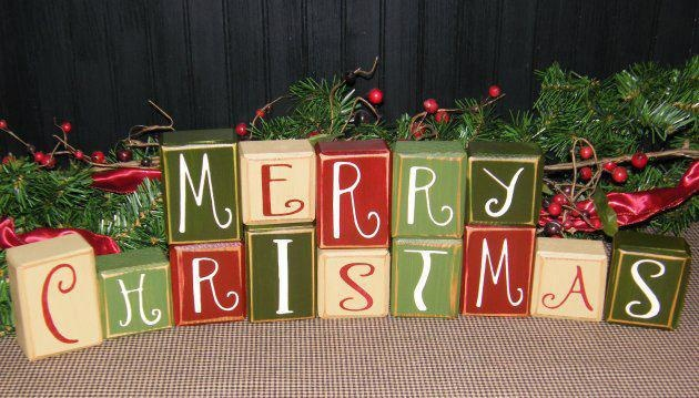 Merry Christmas Blocks | Decorating Ideas