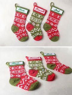 Merajut: Rajut Free Knitting Pattern : Stranded Christmas Stocking