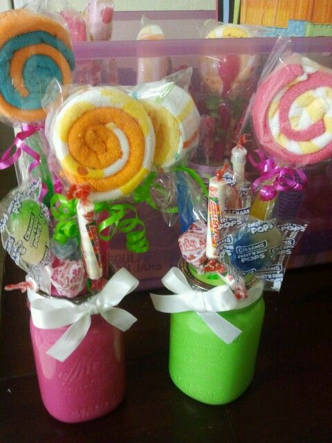 Candy themed baby shower centerpieces ideas