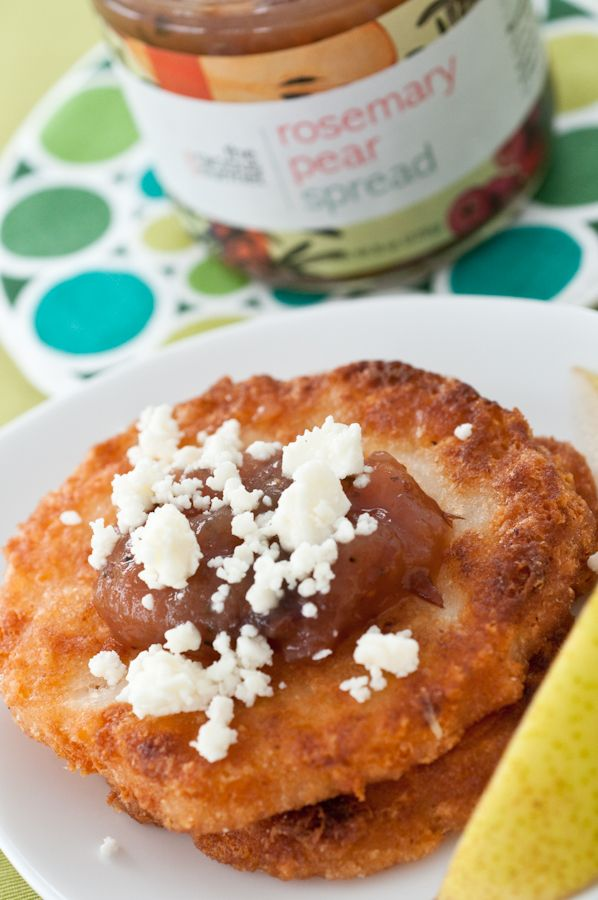 Arepas Colombianas with gracious gourmet rosemary pear spread - Recipe