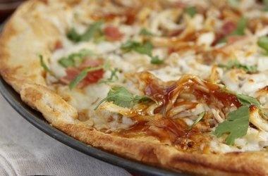 BBQ Leftover Turkey Pizza