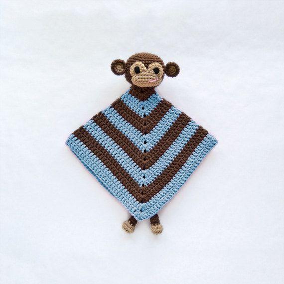 Free Crochet Monkey Lovey Pattern images