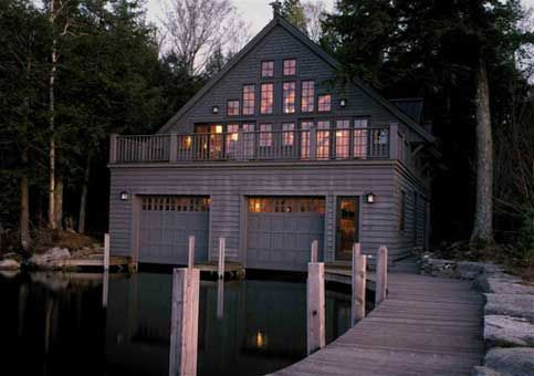 house with boathouse
