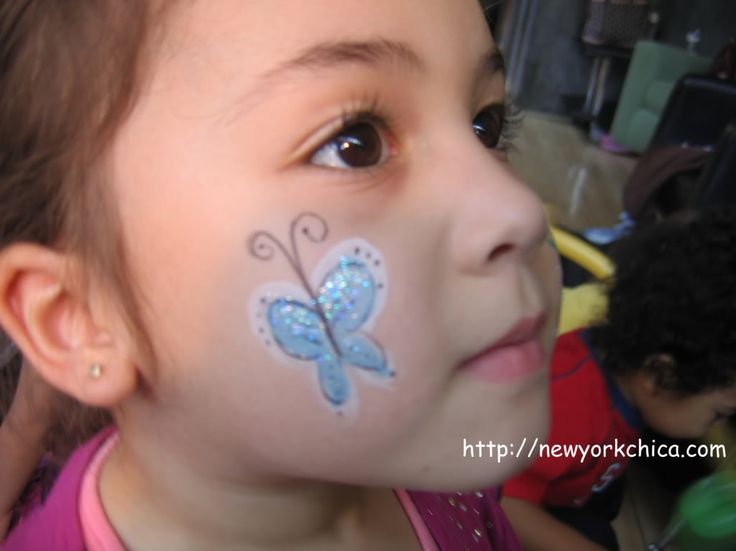 Simple butterfly face paintSimple Butterfly Face Paint