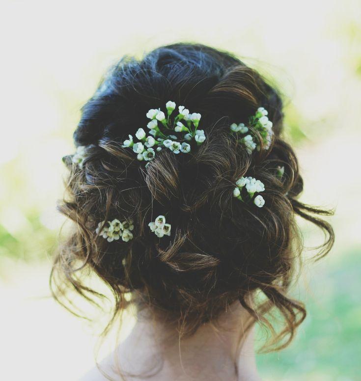 prom hair updo loose flowers prom hair pinterest