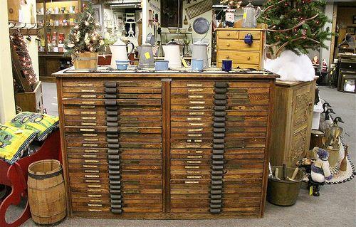 Antique Printer Cabinet 500 x 319