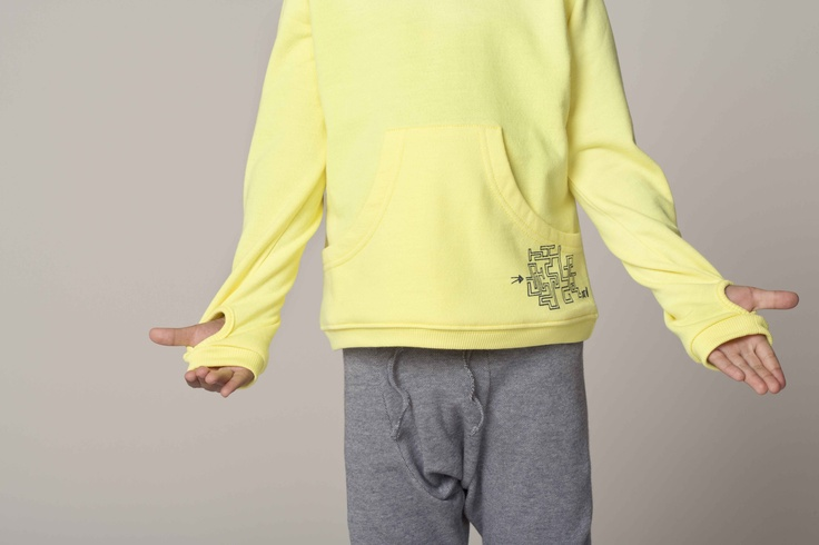 Bright yellow hoodie - Gro | Spring - Summer - 2013 | Pinterest