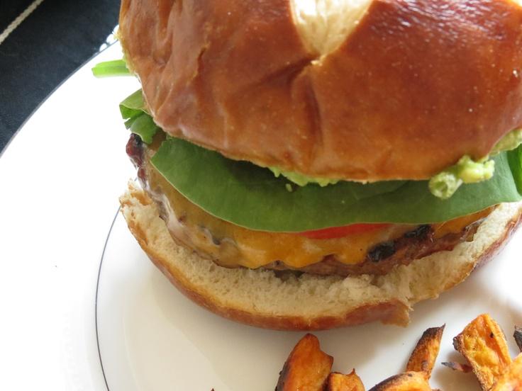 Barbeque Bacon Green Chili Burgers   Recipe