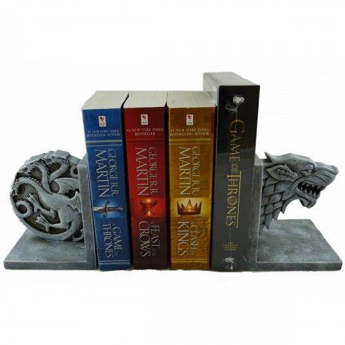 Game Of Thrones Stark And Targaryen Bookend Set