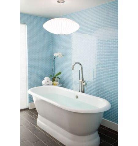 Small bathroom tile backsplash bathrooms kitchens for Small bright bathroom ideas