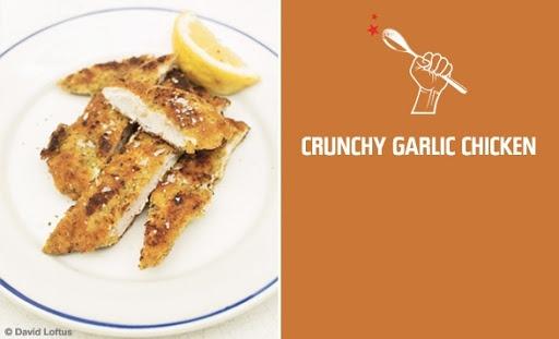 Crunchy garlic chicken   Food   Pinterest