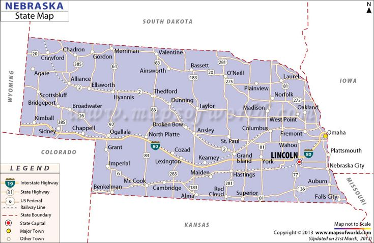 Map Of Nebraska Road Maps Of The United States