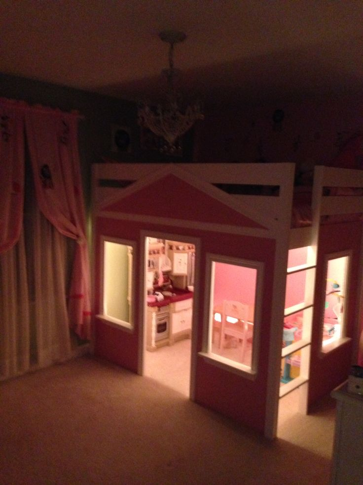 Best Sophie S Loft Bed Playhouse Paisley And Charli Pinterest 400 x 300