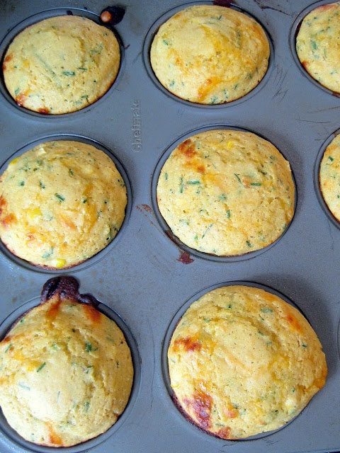Cheddar and Chive Corn Muffins | Recipes | Pinterest