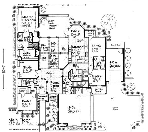 Gamble House Floor Plan Mountain Home Plans Luxury Ranch