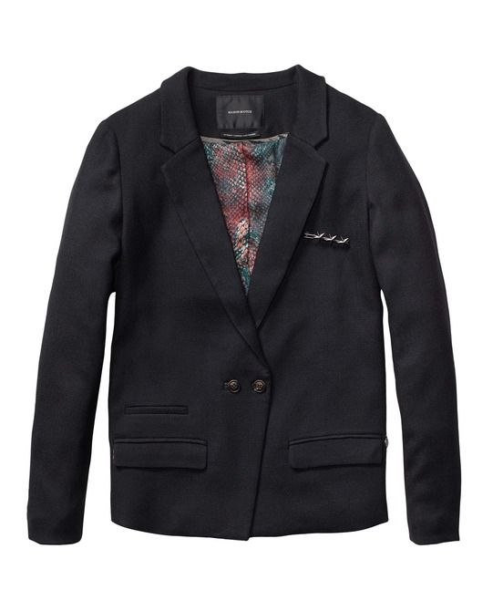 Worker Inspired Blazer In Wool Quality > Womens Clothing > Blazers at