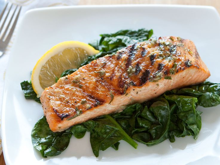 Grilled Salmon with Basil Lemon Butter | Recipe