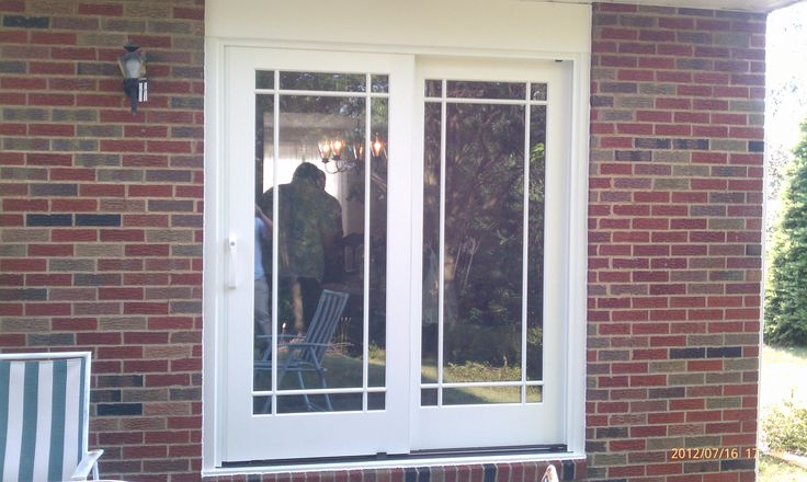 Pella french sliding door in moon pa ideas for the for Exterior french storm doors
