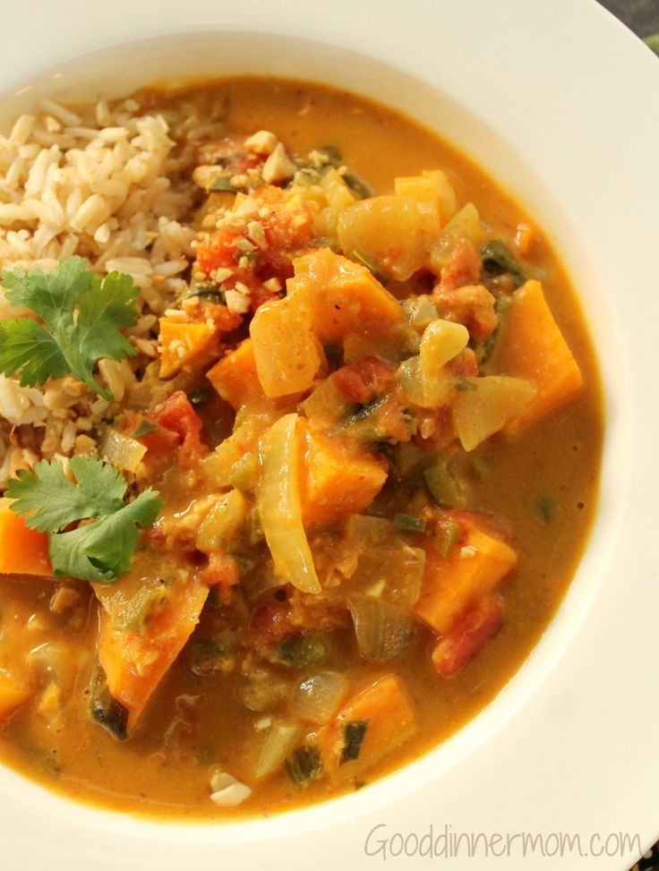 African Peanut Stew | Healthy Main Dishes | Pinterest