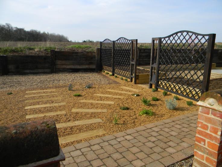 Low maintenance gravel garden herb area my designs for Low maintenance herb garden