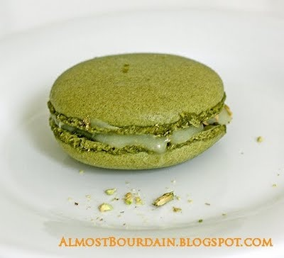 Almost Bourdain: Matcha (Japanese Green Tea) Macarons