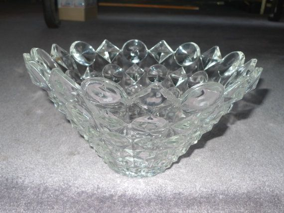 mikasa studio nova heavy large crystal geometric bowl 12 counterpoin