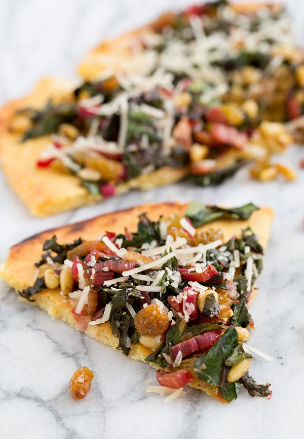 Socca with Sautéed Chard and Parmesan from @Oh My Veggies