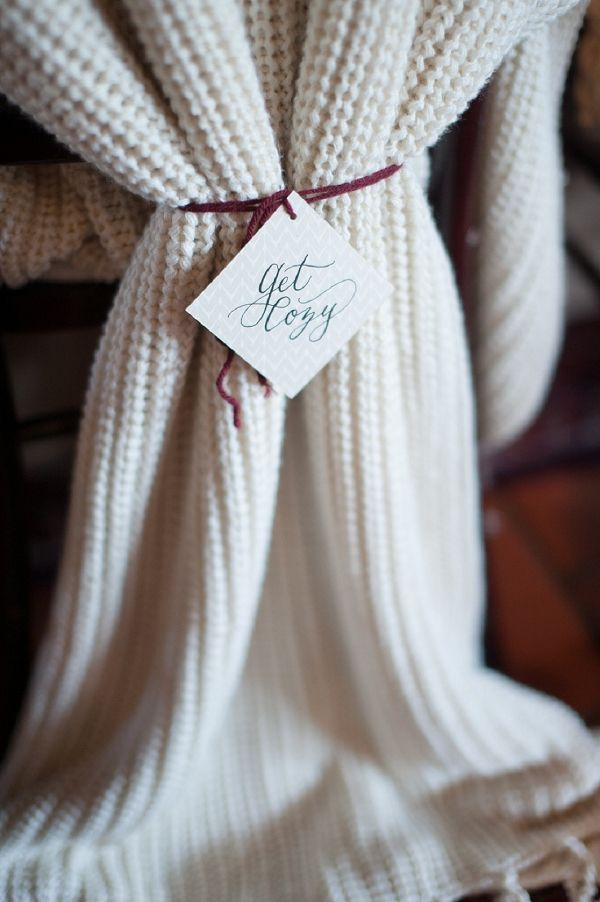 cozy throws for the bride and grooms chairs