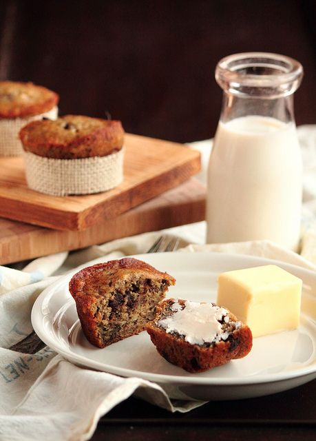 Banana Espresso Chocolate Chip Muffins | Recipes...yummy! | Pinterest