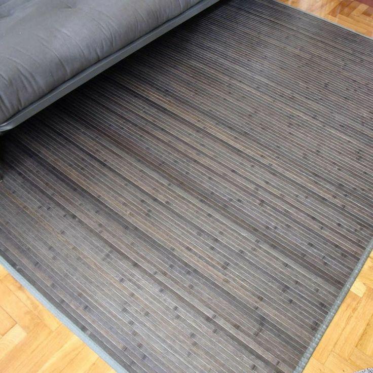 Alfombra de bamb en color gris nos gustan las alfombras - Alfombras de bambu ...