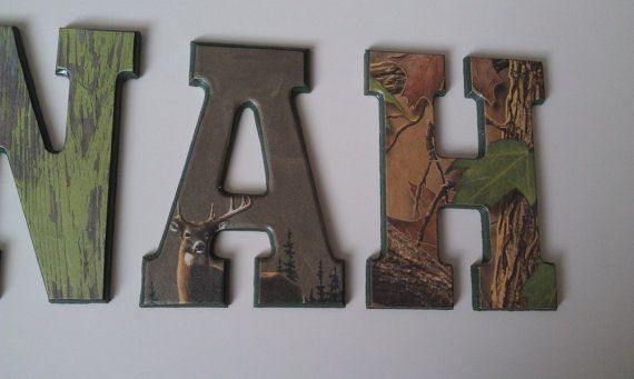 Hunting Camo Wall Letters Kids Room Decor Personalized Hunting Theme