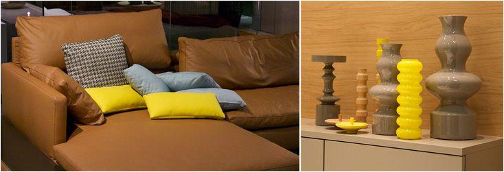 Interieur kleur 2014 geel met cognac  Woonkamer  Pinterest