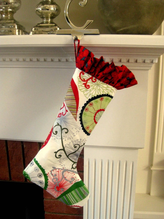 Christmas stocking modern christmas stocking by meadowmistdesigns 25