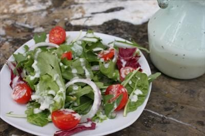 Creamy Herb Salad Dressing (will use agave rather than corn syrup)